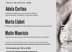 Jornada 'Aporofòbia, l'odi a les persones en situació de pobresa', 10 d'octubre