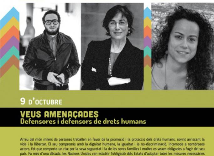 Inici del cicle 'Els dilluns dels Drets Humans' amb 'Veus amenaçades', 9 d'octubre