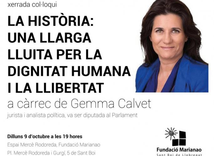 Xerrada 'La història: una llarga lluita per la dignitat humana i la llibertat', 9 d'octubre