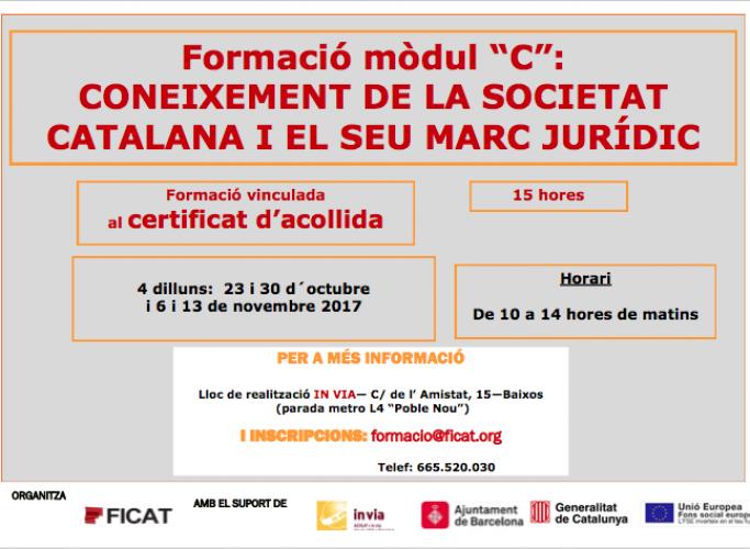 Curs sobre 'Coneixement de la societat catalana i els seu marc jurídic', octubre i novembre