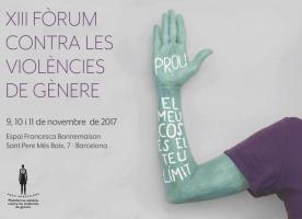 XIII Fòrum contra les violències de gènere, del 9 a l'11 de novembre