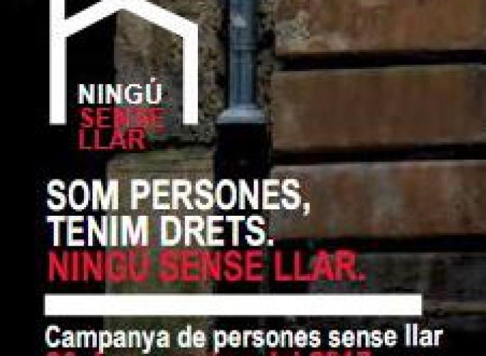 Campanya 'Som persones, tenim drets. Ningú sense llar' a Lleida