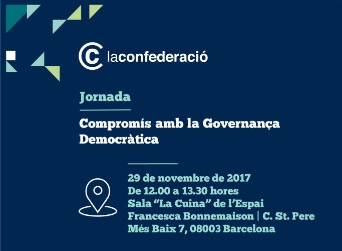 'Compromís amb la Governança Democràtica', jornada de La Confederació el 29 de novembre