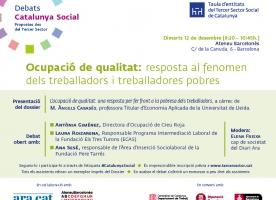 Debat Catalunya Social sobre ocupació de qualitat, 12 de desembre
