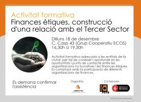 Formació sobre finances ètiques i tercer sector, 18 de desembre