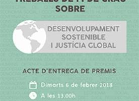 Acte d'entrega de la 1ª edició dels Premis FAS a TFG sobre Desenvolupament Sostenible i Justícia Global, 6 febrer