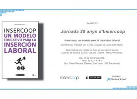 Jornada '20 anys d'Insercoop', 16 de febrer