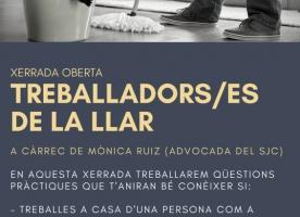 Xerrada oberta sobre 'Treballadors/es de la llar', 1 de febrer
