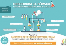 2ª crida oberta per al Laboratori de Cocreació d'Empreses Socials