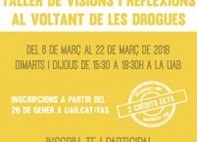 Taller 'Visions i reflexions al voltant de les drogues', del 6 al 22 de març