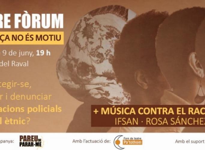 Teatre Fòrum contra les identificacions per perfil ètnic, 9 de juny