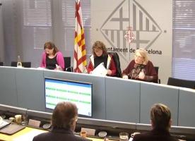 Teresa Crespo intervé a la Comissió plenària de Drets socials de l'Ajuntament de Barcelona