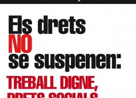 'Els drets no se suspenen', manifestació unitària el 29 de maig