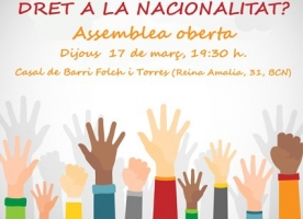 Assemblea oberta pel dret a la nacionalitat, 17 de març