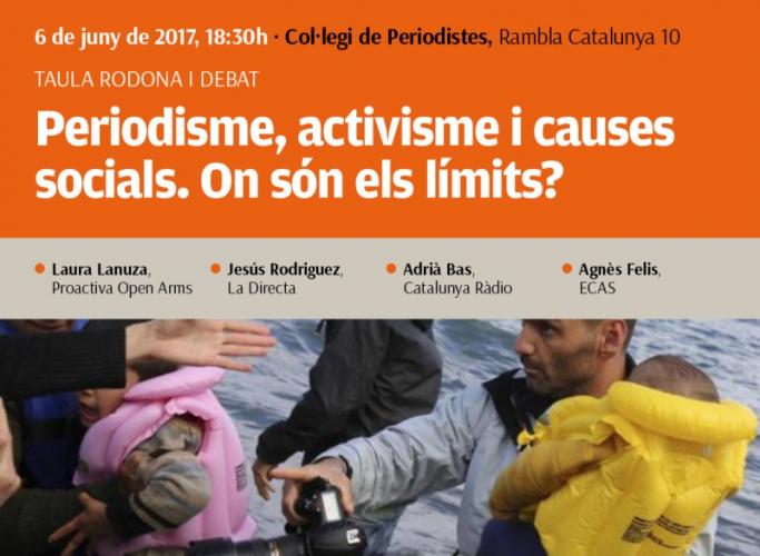 'Periodisme, activisme i causes socials. On són els límits?', taula rodona 6 de juny al Col·legi de Periodistes