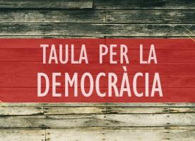 La Taula per la Democràcia s'adhereix a la concentració d'avui a Barcelona i convoca una gran manifestació el 21 d'octubre