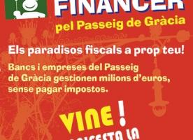 Tour financer de la Plataforma per una fiscalitat justa per denunciar els paradisos fiscals