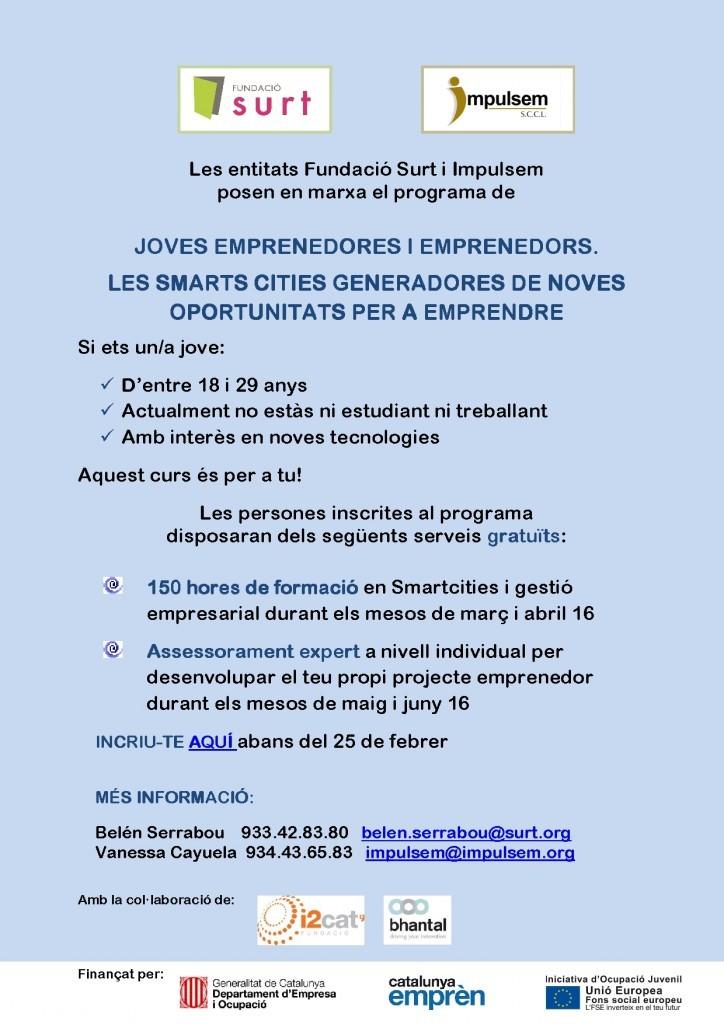 Cartell per la formació sobre smartcities per joves