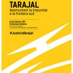 Cartell de la preestrena de Tarajal: 'Desmuntant la impunitat a la frontera sud'