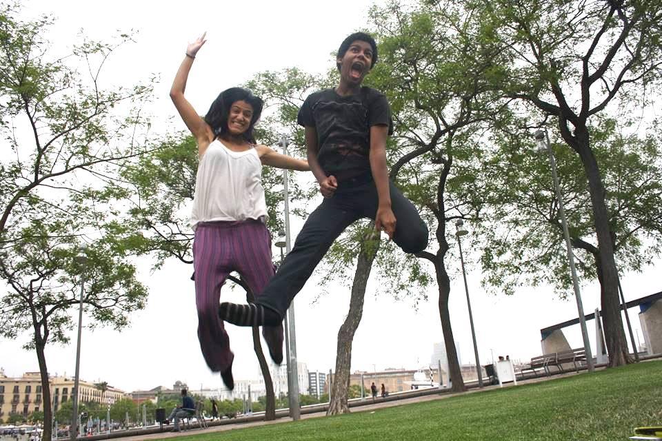 Laia i Bryan del Projecte Rossinyol