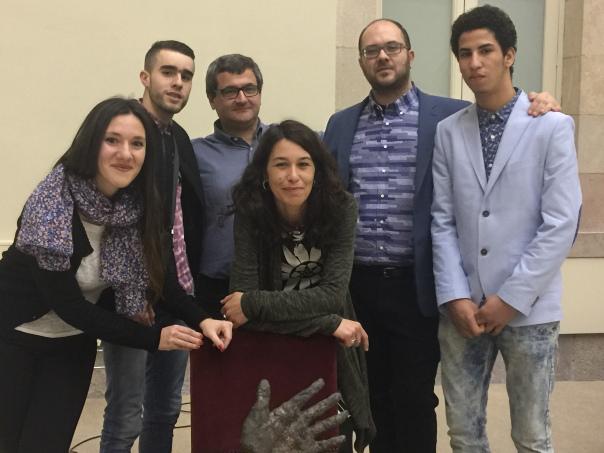 Representants de Noves Vies al lliurament del Premi Solidaritat 2015
