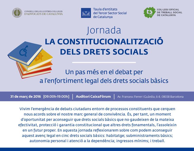 Jornada sobre constitucionalització dels drets socials