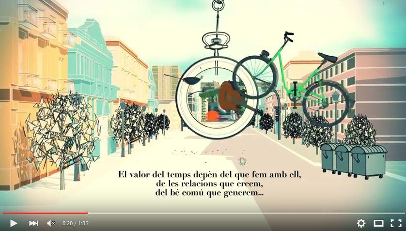 Captura del vídeo sobre bancs del temps