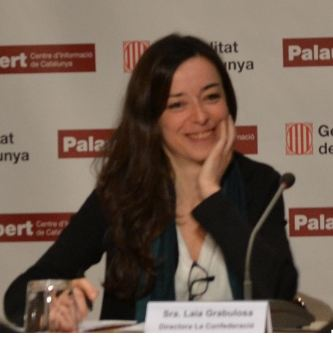Laia Grabulosa durant la presentació de l'anuari sobre l'ocupació al tercer sector