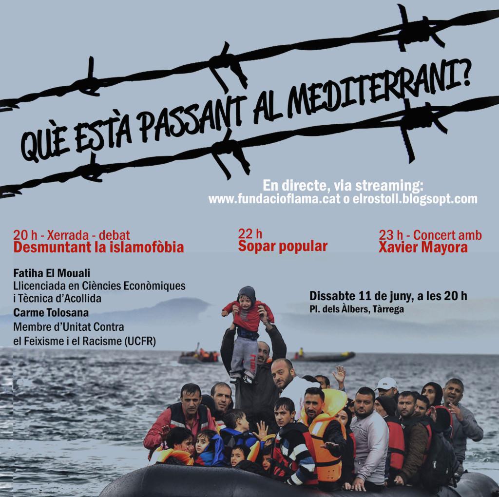 Crisi migratòria i islamofòbia, cartell de la xerrada-debat
