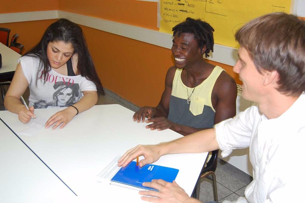 Imatge d'una classe sobre estrangeria