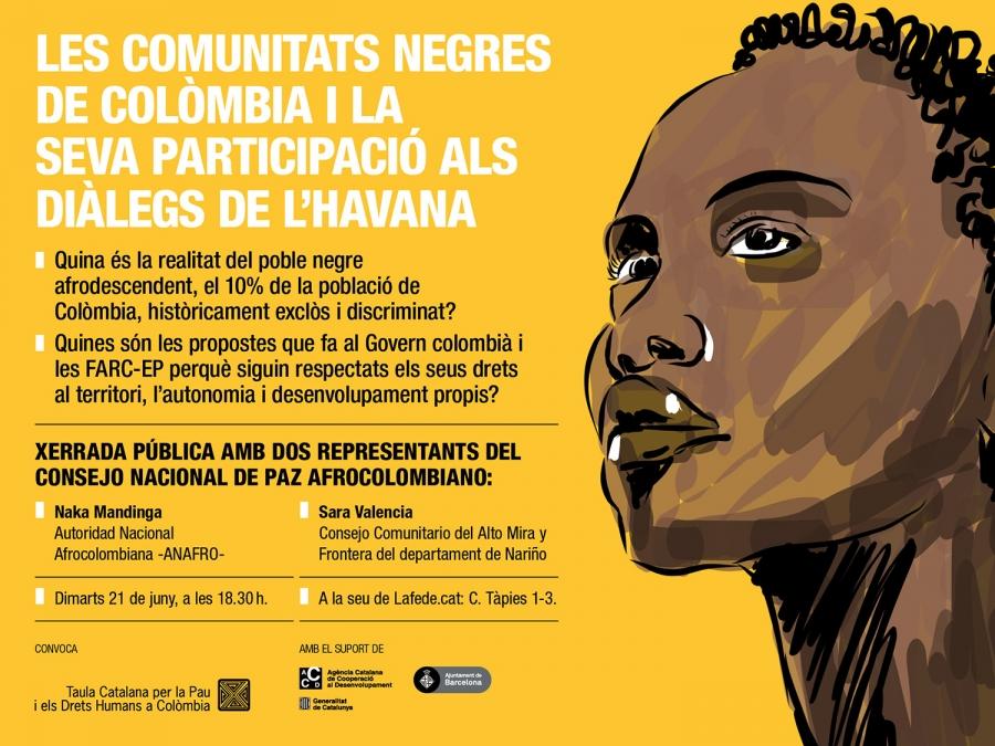 Cartell xerrada sobre la pau a Colòmbia