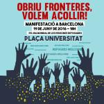 Manifestació pels drets de les persones refugiades