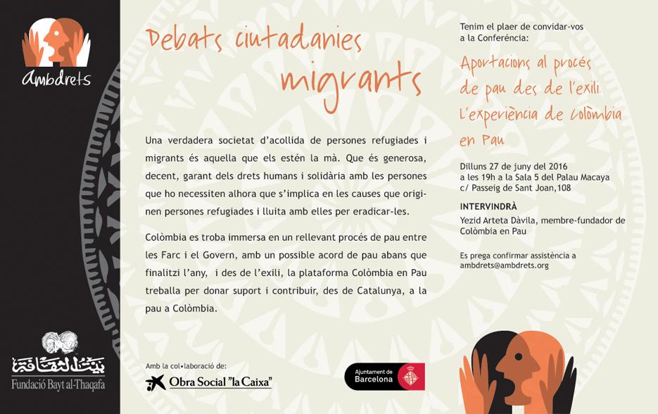 Cartell debat ciutadanies migrants