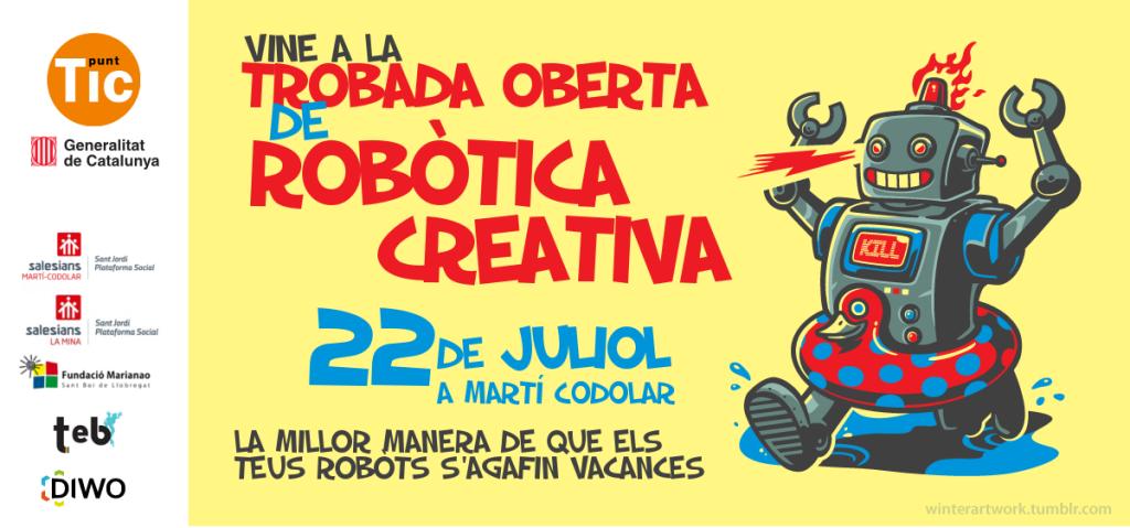 Cartell trobada robòtica creativa