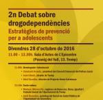 Cartell debat drogodependències