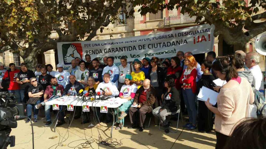 Roda de premsa Renda Garantida de Ciutadania