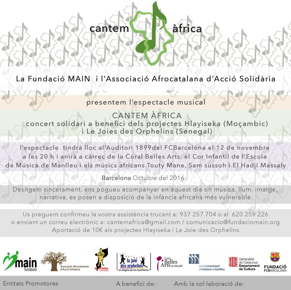 espectacle solidari cantem africa