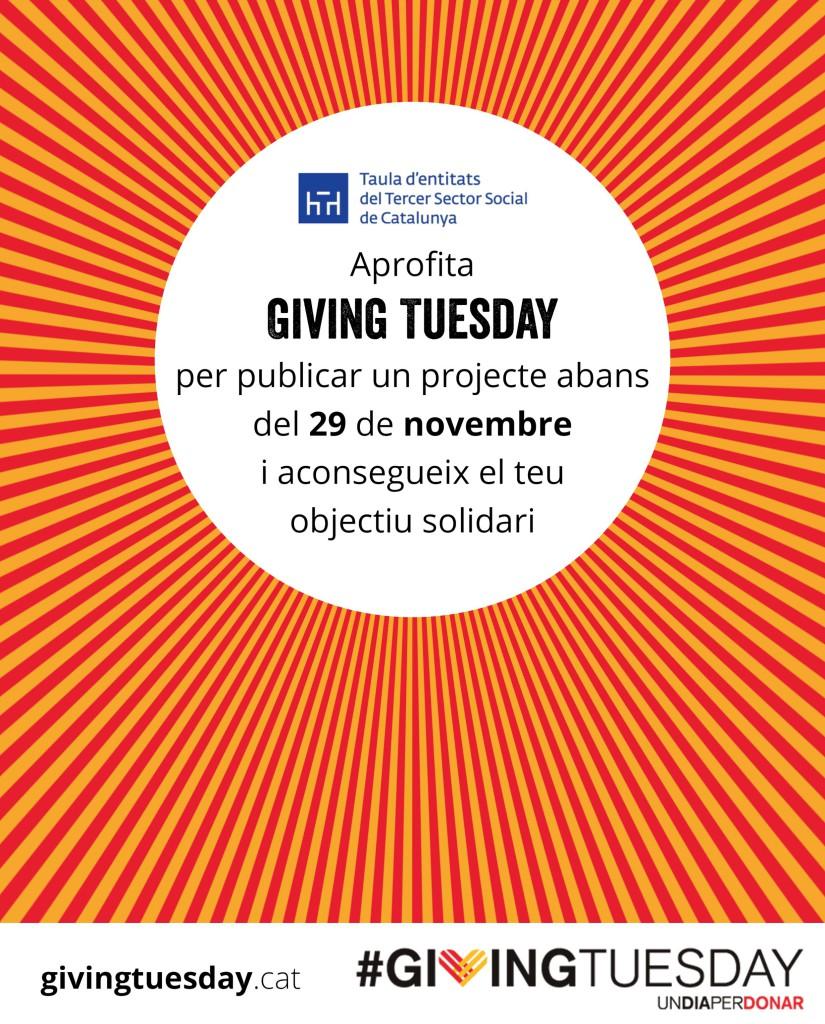 Logo projectes al Giving Tuesday