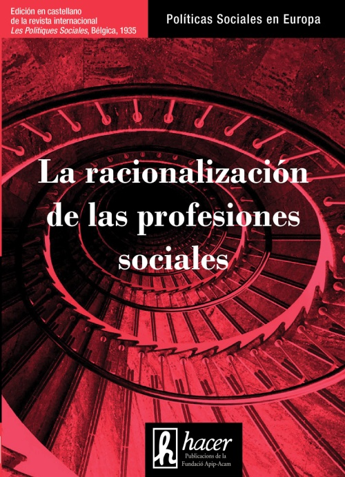Portada de la revista 'La racionalización de las profesiones sociales'