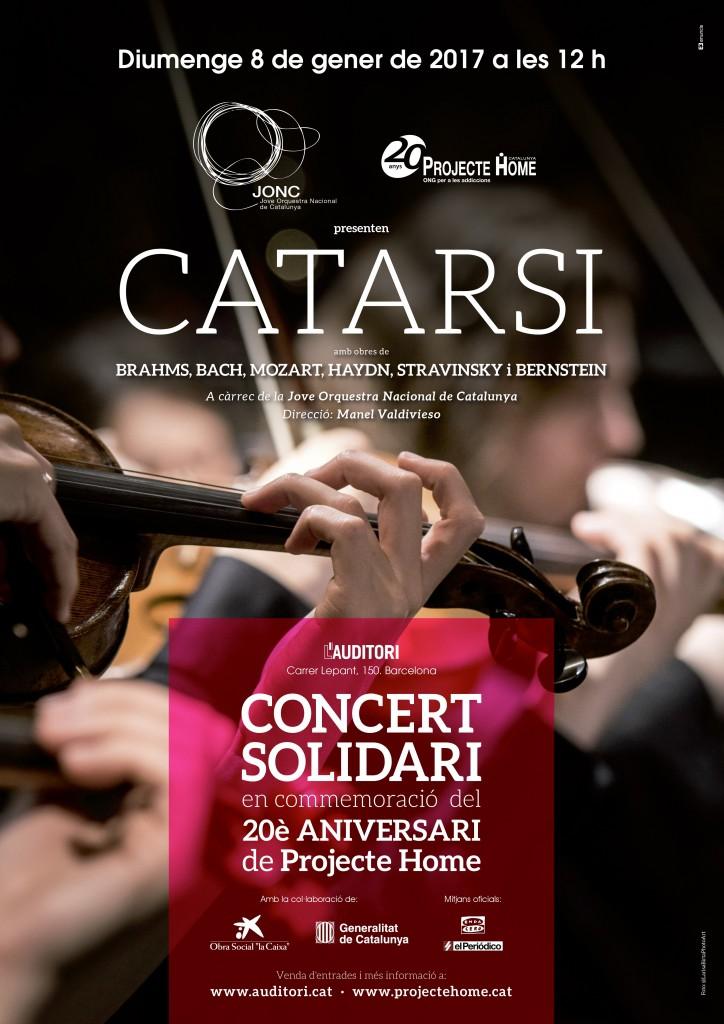 Cartell del concert solidari de la JONC
