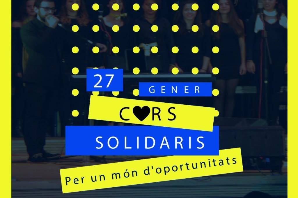 Cartell Concert 'Cors solidaris per un món d'oportunitats'
