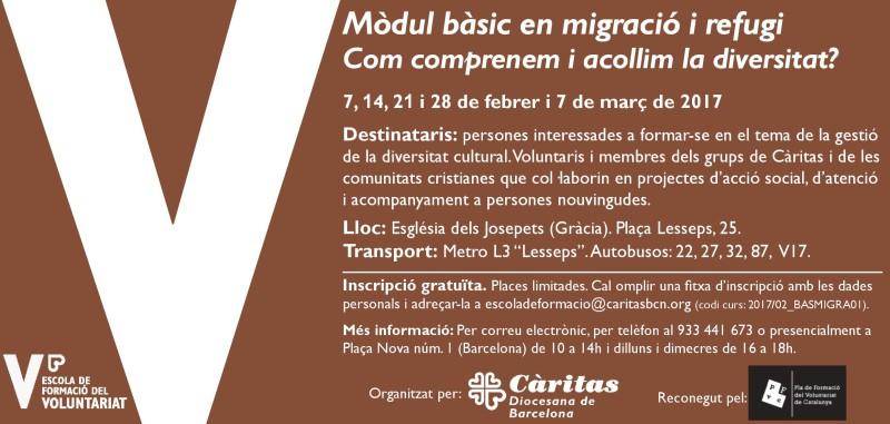 Mòdul bàsic en migració i refugi, de febrer a març