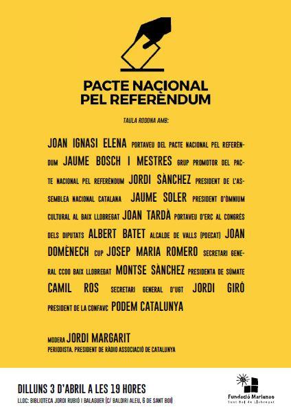 Taula rodona 'Pacte Nacional pel Referèndum'
