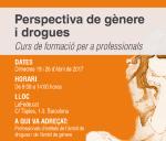 Cartell curs 'Perspectiva de gènere i drogues'