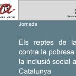 Cartell jornada reptes inclusió social a Catalunya