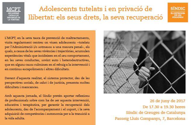 Jornada 'Adolescents tutelats i en privació de llibertat'