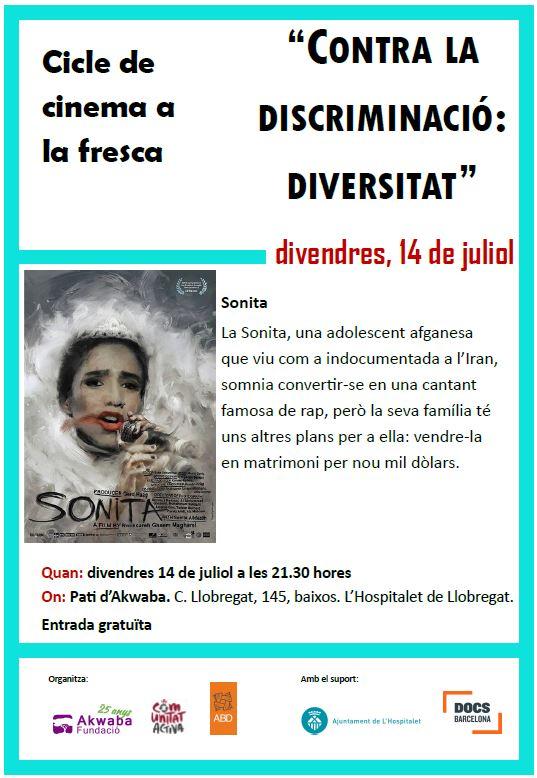 "Cinema a la fresca ""Sonita"""