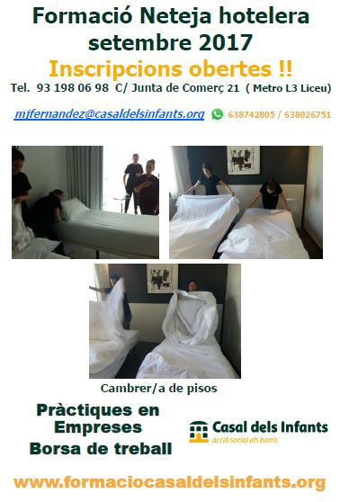 Cartell Formació en Neteja Hotelera