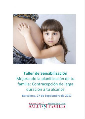 Taller de sensibilització 'Millorant la planificació de la família. Contracepció de llarga durada', 27 de setembre