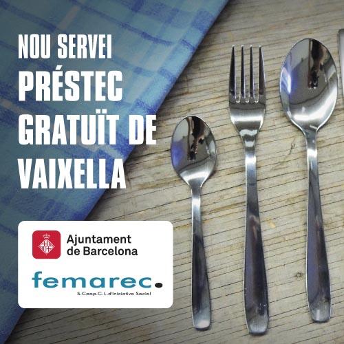 Nou Servei de préstec de vaixella gratuït de Femarec